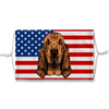 Bloodhound Watercolor Dog USA Flag Sublimation Face Mask