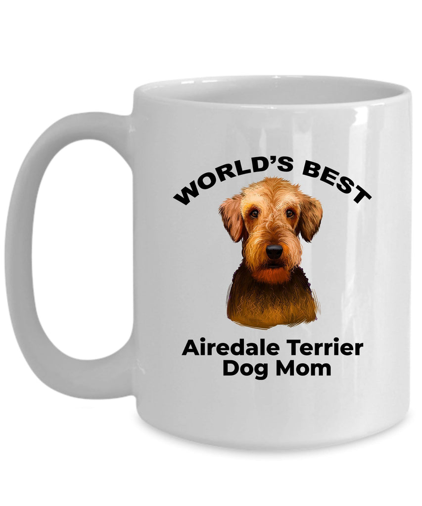 Airedale Terrier Best Dog Mom Ceramic Coffee Mug