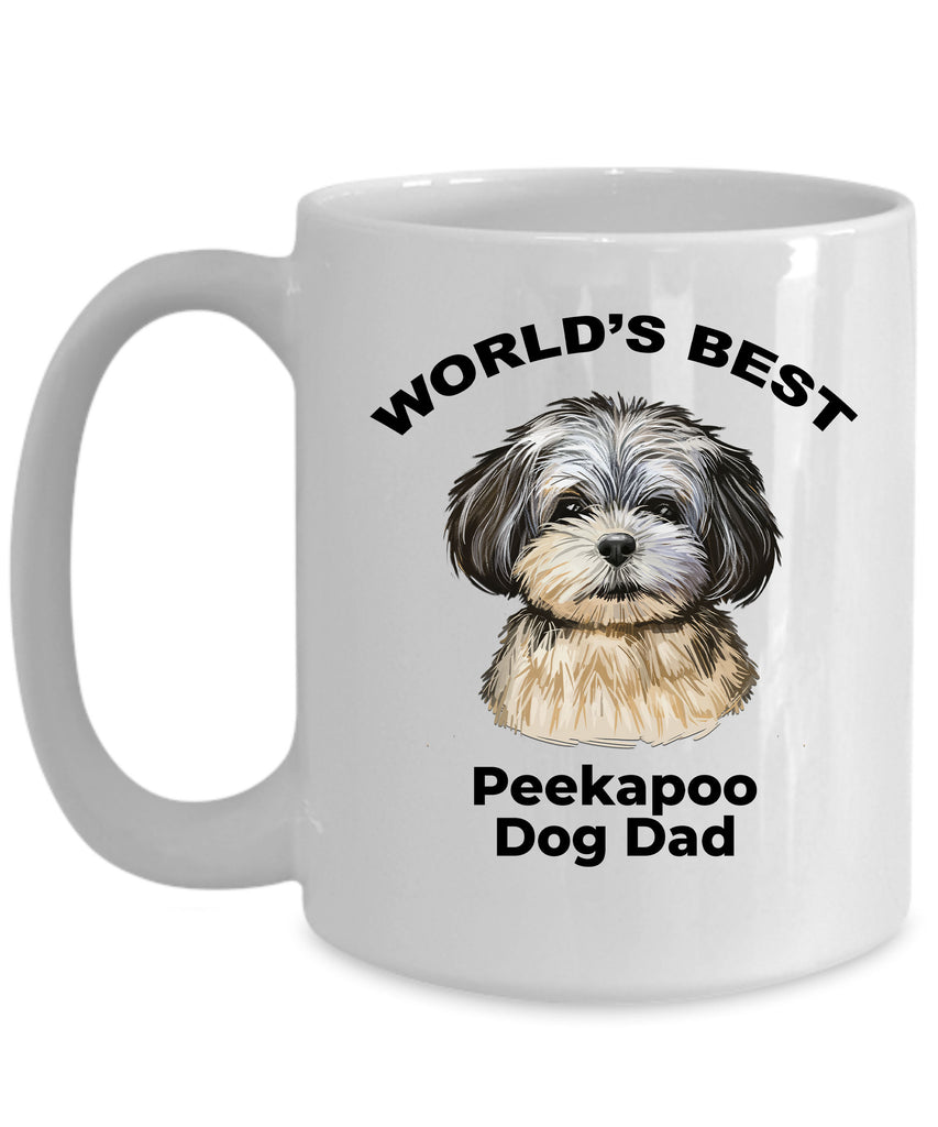 Peekapoo Best Dog Dad Coffee Mug