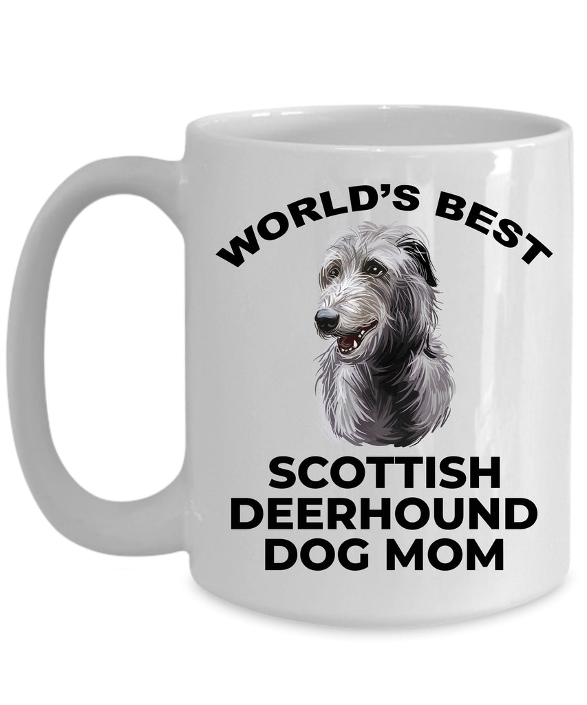 Scottish Deerhound Best Dog Mom ceramic coffee mug