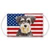 Miniature Schnauzer Dog USA Flag Sublimation non-medical Face Mask