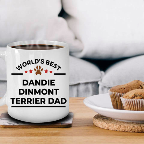 Dandie Dinmont Terrier Dog Lover Gift World's Best Dad Birthday Father's Day Ceramic Coffee Mug