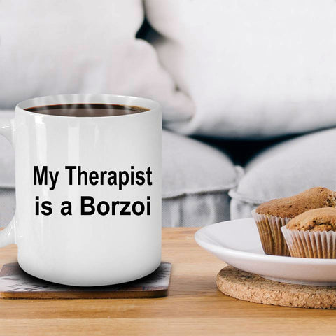 Borzoi Dog Therapist Coffee Mug