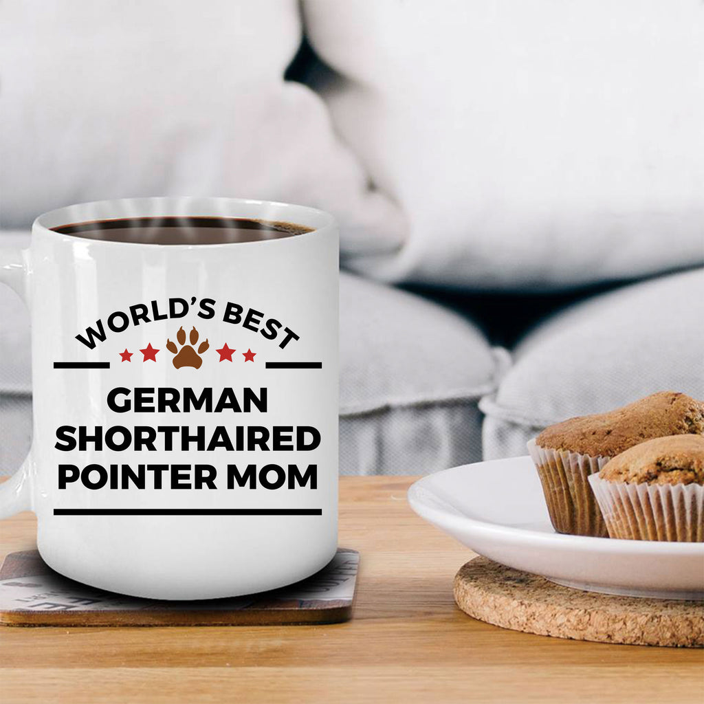 German Shorthaired Pointer Dog Lover Gift World's Best Mom Birthday Mother's Day Ceramic Coffee Mug