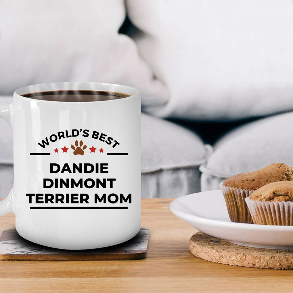 Dandie Dinmont Terrier Dog Lover Gift World's Best Mom Birthday Mother's Day Ceramic Coffee Mug