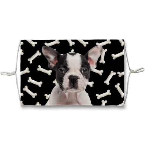 Boston Terrier Puppy Dark Bones Sublimation Face Mask