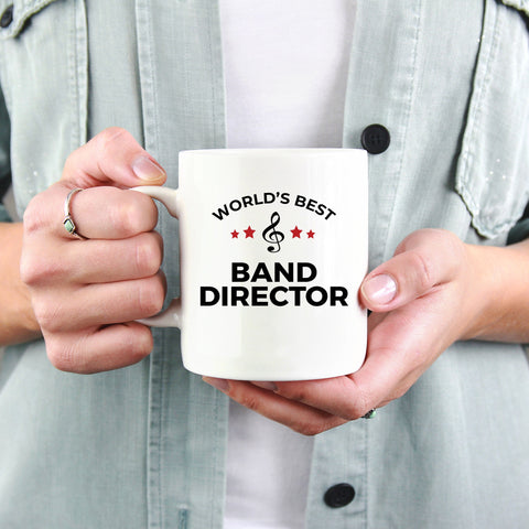 Band Director Gift World's Best Appreciation Birthday Father's Day Mother's Day White Ceramic Coffee Mug