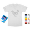 Chicken Mandala Coloring T-Shirt