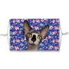 Sphynx Cat Blue Floral Sublimation Face Mask