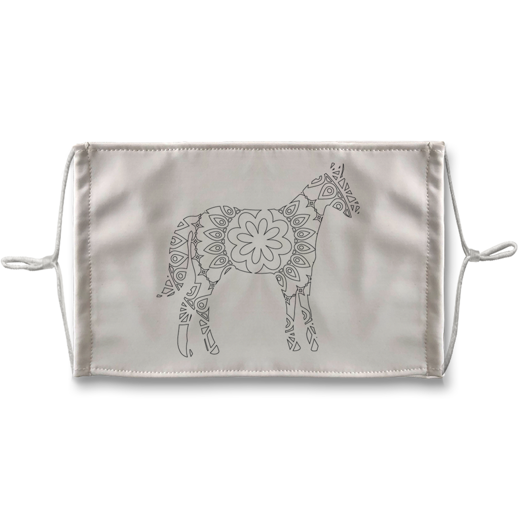 Horse Mandala Sublimation Face Mask