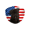 Bouvier des Flandres USA Flag Sublimation Face Mask