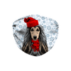Afghan Hound Snowflake Sublimation Face Mask