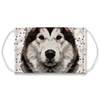 Siberian Husky - Alaskan Malamute Dog Paw Print Sublimation Face Mask