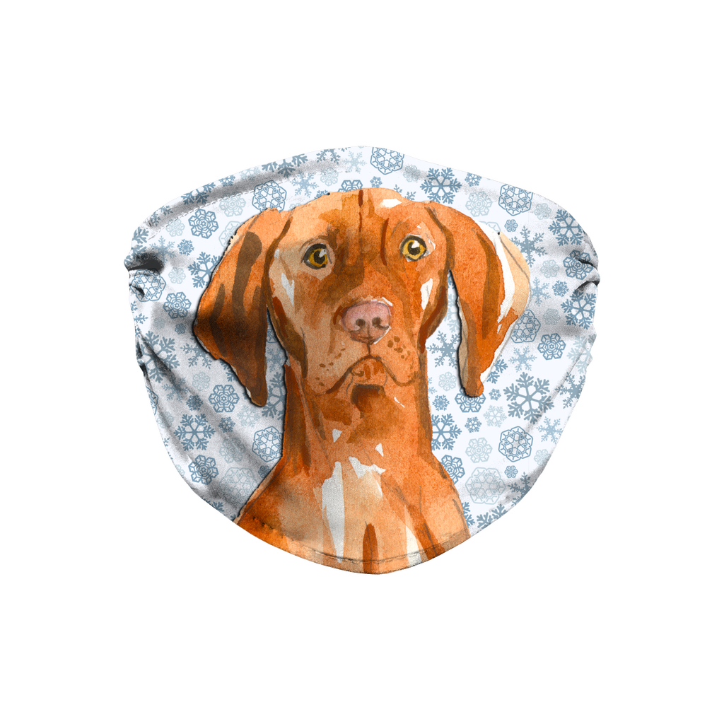 Vizsla Dog Snowflake Sublimation Face Mask