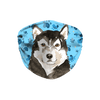 Alaskan Malamute watercolor Blue Paw Print Sublimation Face Mask