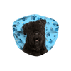 Bouvier des Flandres Dog Blue Paw Print Sublimation Face Mask