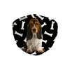 Basset Hound Puppy Dark Bones Sublimation Face Mask