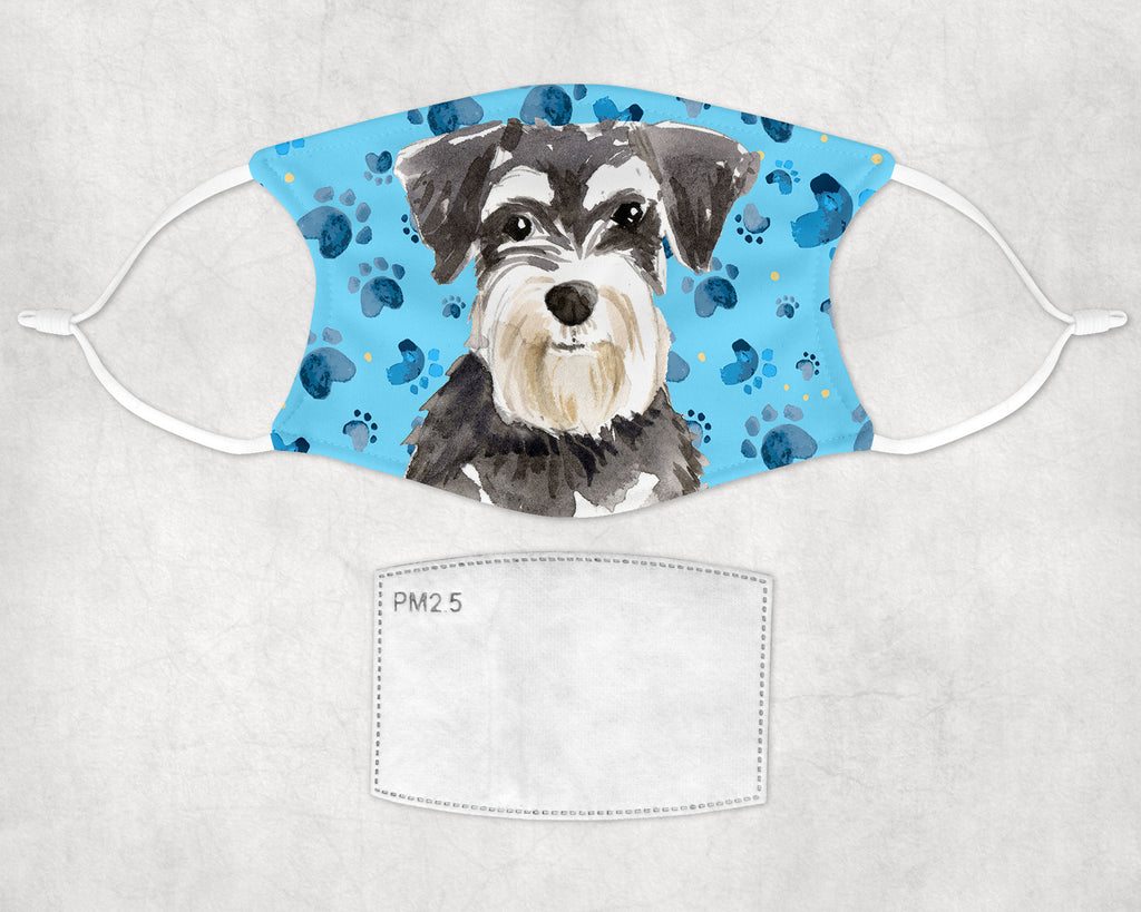 Miniature Schnauzer Face Mask Adult and Child sizes Made in USA