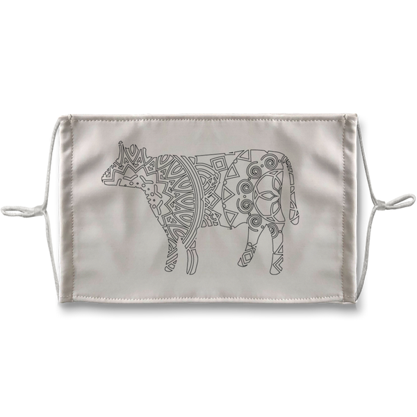 Cow Mandala Sublimation Face Mask