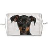 Miniature Pinscher Puppy White Sublimation Face Mask