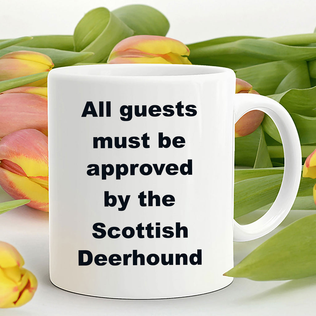 Scottish Deerhound Coffee Mug - All guests must be approved