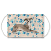 Italian Greyhound Dog Tan Paw Print Sublimation Face Mask