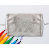 Lion Mandala Sublimation Coloring Face Mask