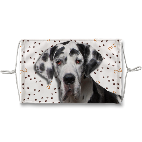 Great Dane Puppy Paw Print Sublimation Face Mask