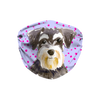 Miniature Schnauzer Purple Sublimation Face Mask