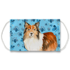 Shetland Sheepdog Bue Paw Print Sublimation Face Mask