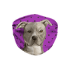 American Staffordshire Terrier - Pit Bull - Purple Polkadot Sublimation Face Mask