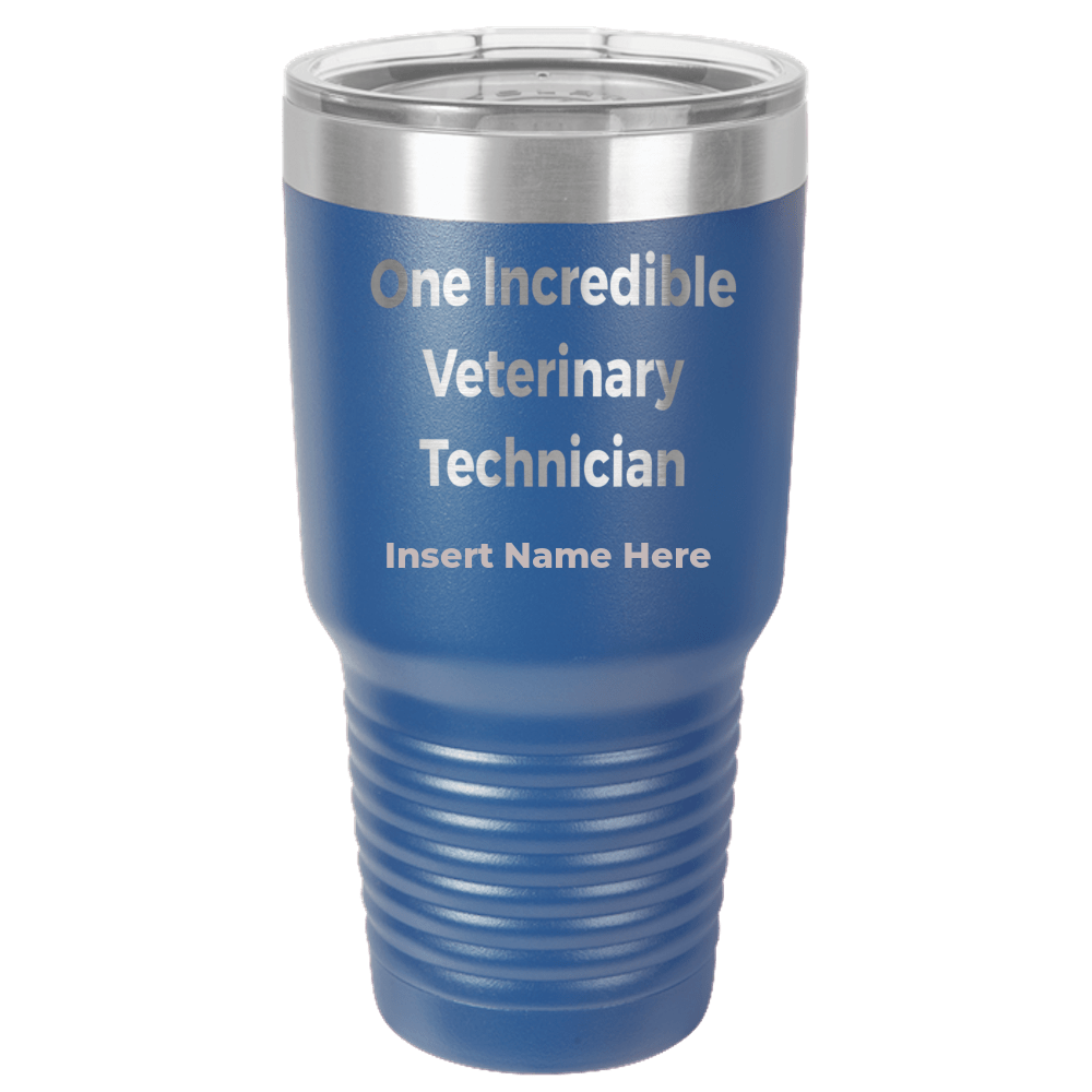Veterinary Technician Personalized Polar Camel - 30 oz Ringneck Tumbler {Laser Etched No Colored Art}