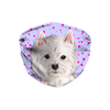 West Highland White Terrier Dog Purple non-medical Sublimation Face Mask