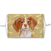 Brittany Spaniel Dog Tan Bones Sublimation Face Mask