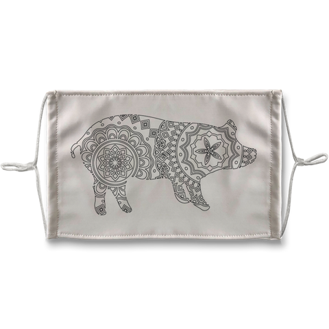 Pig Mandala Sublimation Face Mask