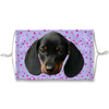 Dachshund Puppy Purple Sublimation Face Mask