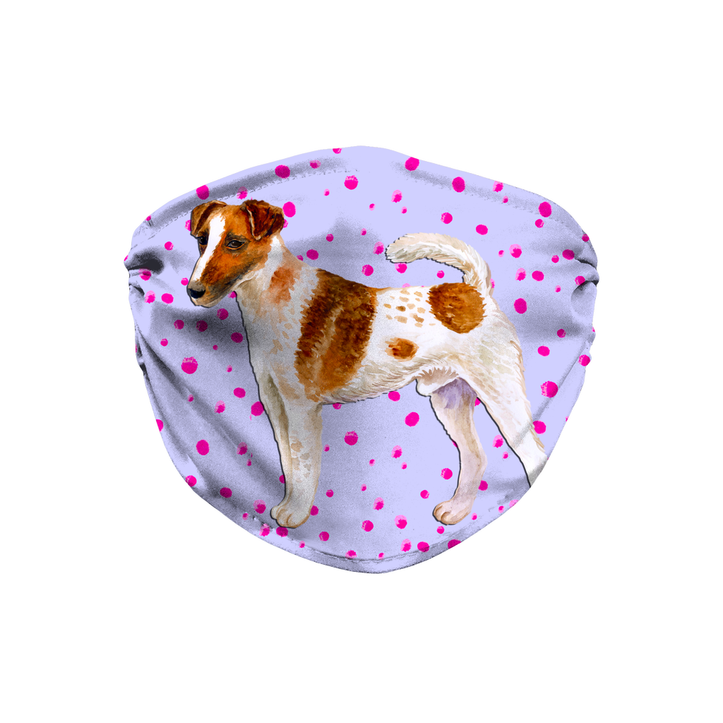 Smooth Fox Terrier Purple Sublimation Face Mask