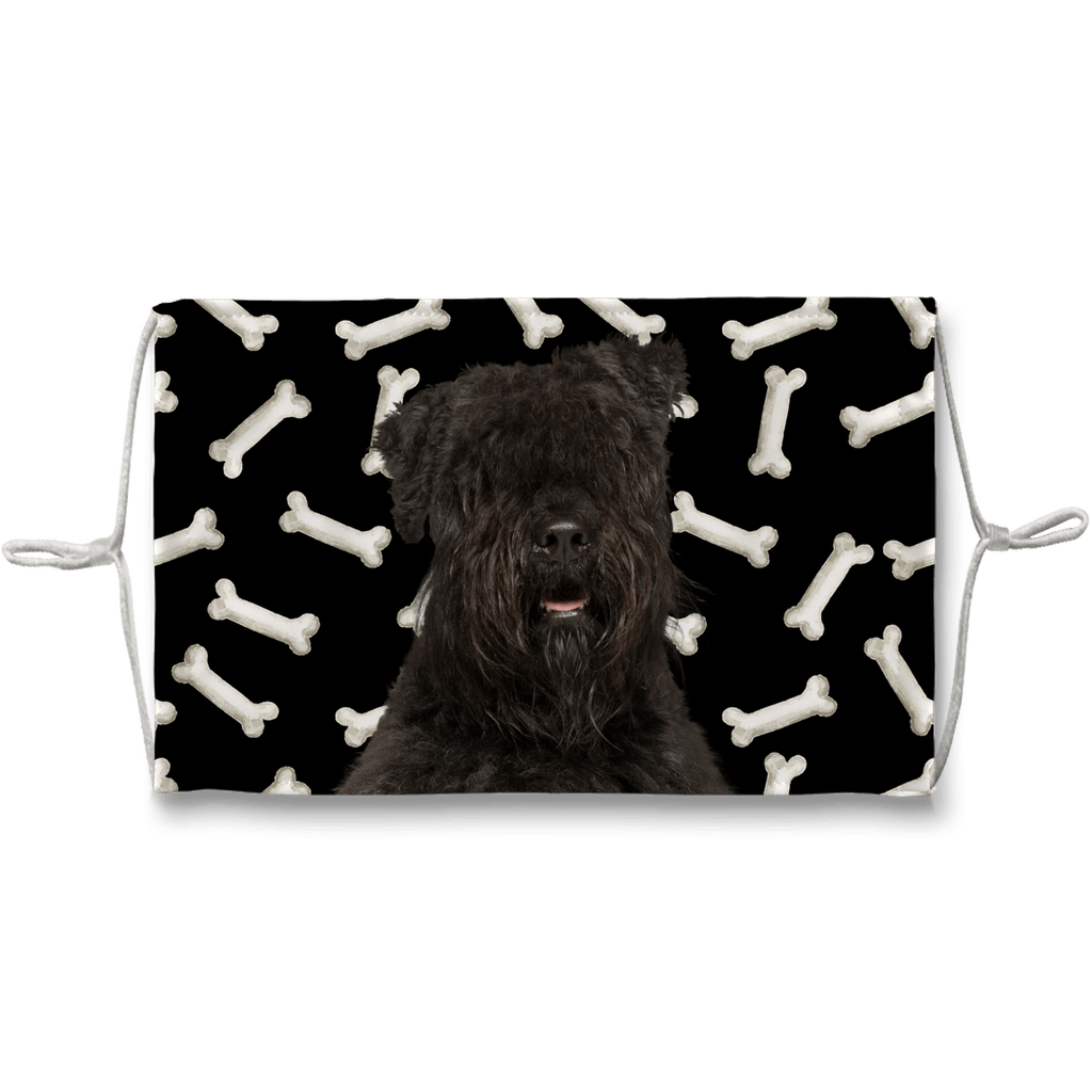 Bouvier des Flandres Dark Bones Sublimation Face Mask