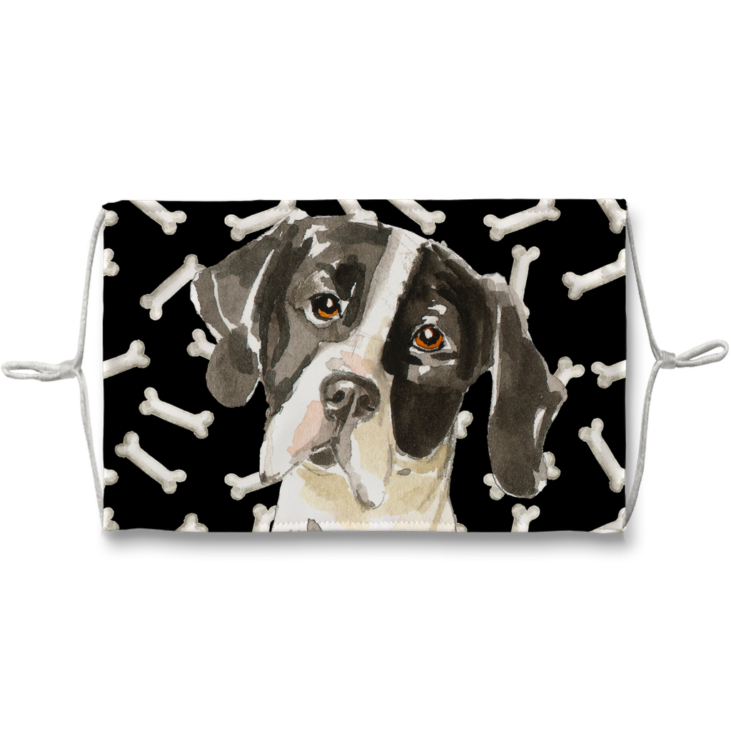 English Pointer Dog Dark Bones Sublimation Face Mask