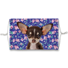 Chihuahua Puppy Blue Floral Sublimation Face Mask