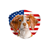 Brittany Spaniel Dog USA Flag Sublimation Face Mask