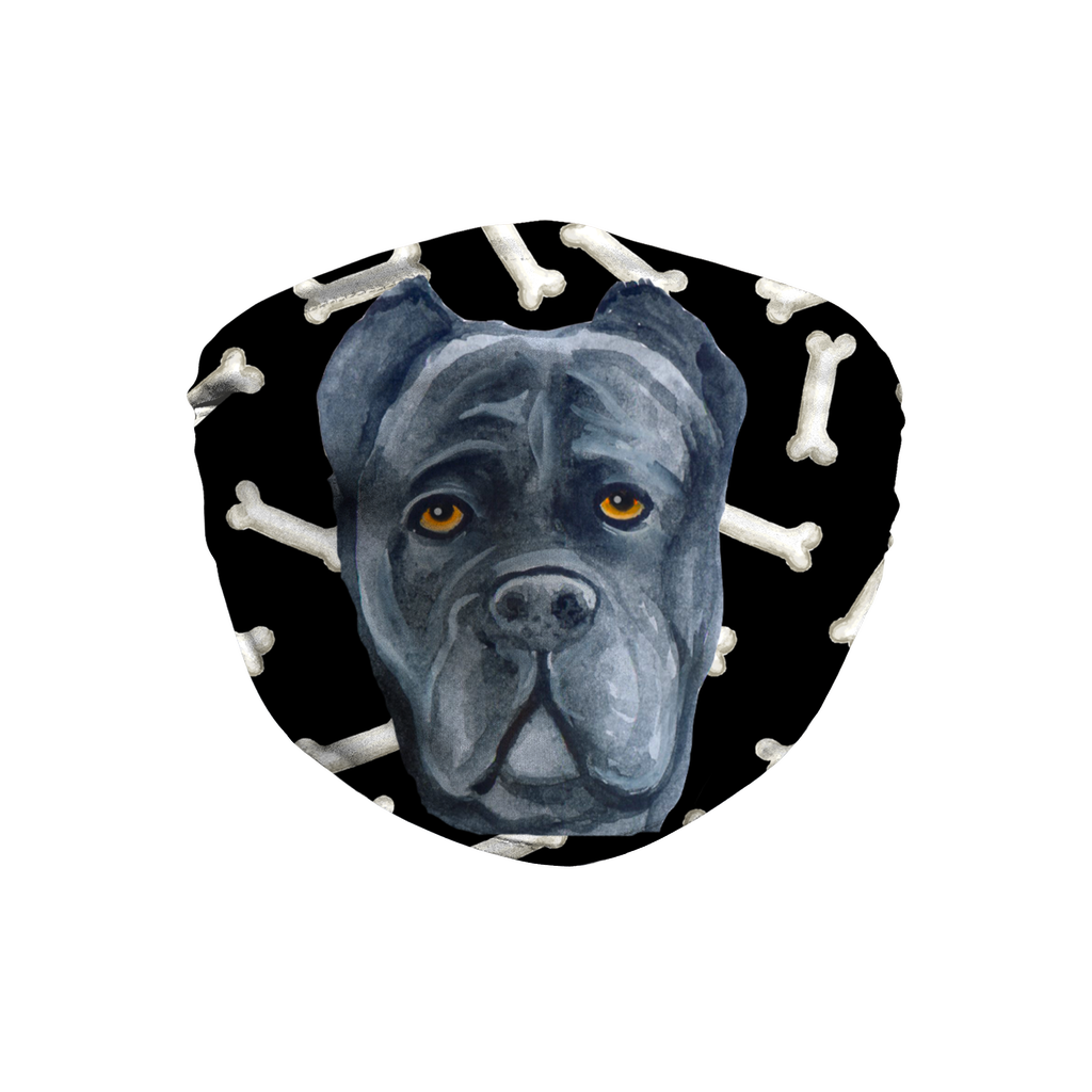 Cane Corso Dog Dark Bones Sublimation Face Mask