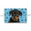 Rottweiler Puppy Blue Paw Print Sublimation Face Mask