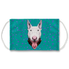 Bull Terrier Dog Teal Sublimation Face Mask