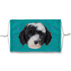 Sheepadoodle Puppy Teal Sublimation Face Mask