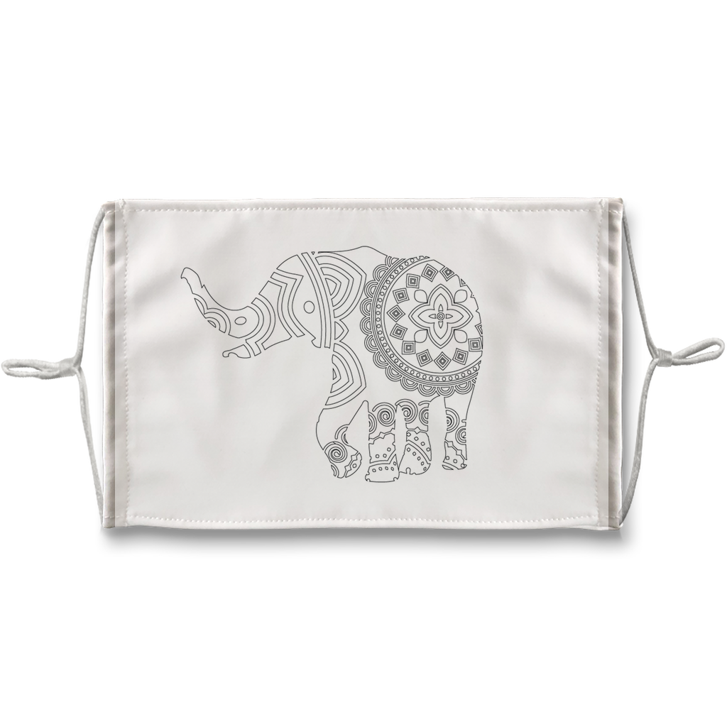 Elephant Mandala Sublimation Face Mask