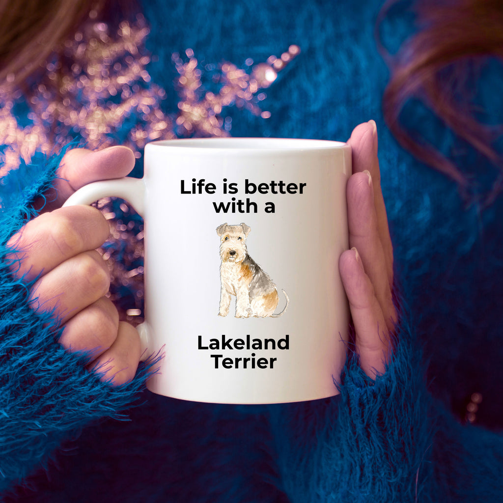 Lakeland Terrier Dog Coffee Mug - Life is Better