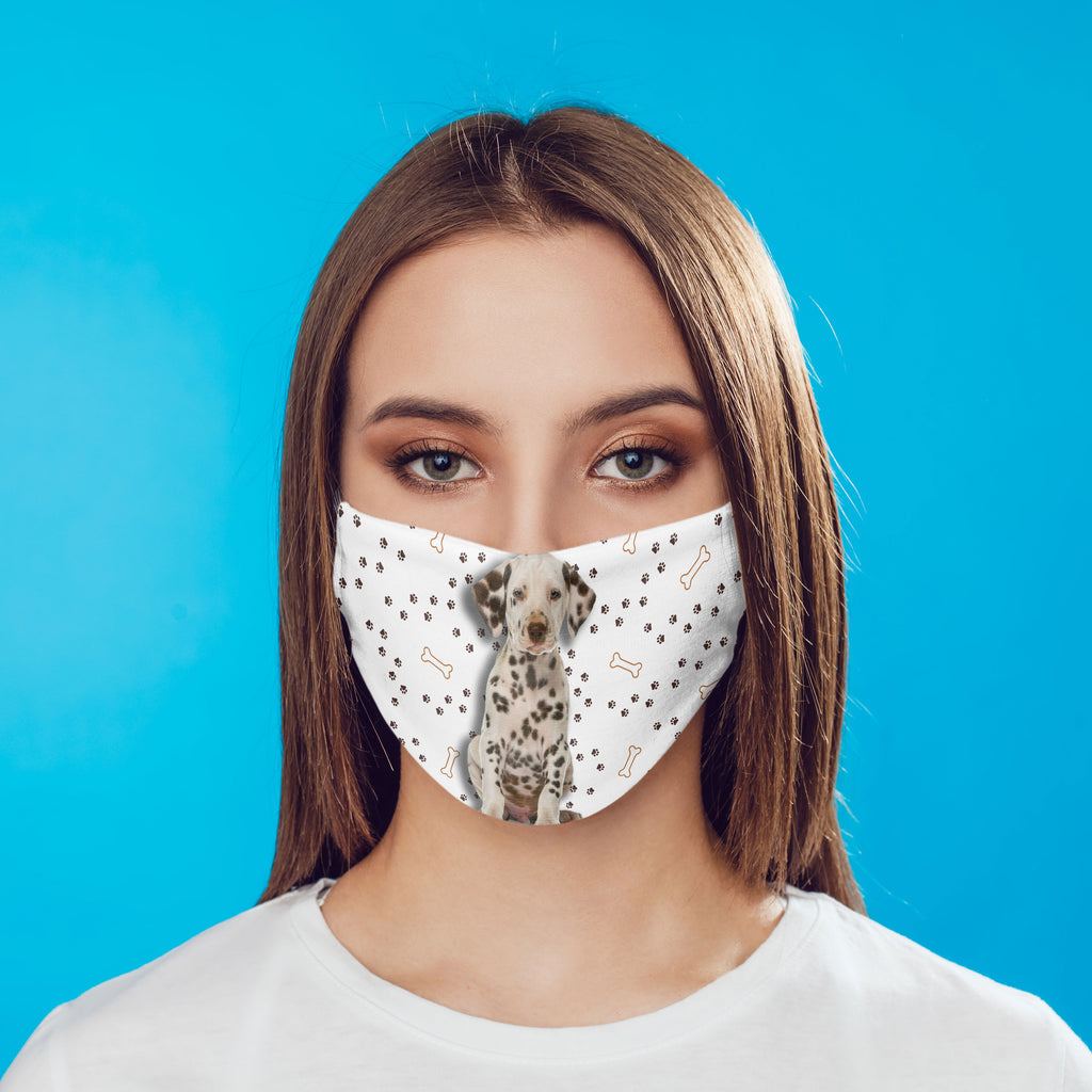 Dalmatian Puppy Face Mask - Washable with pocket and carbon filter