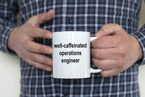 Operations Engineer White Ceramic Coffee Mug