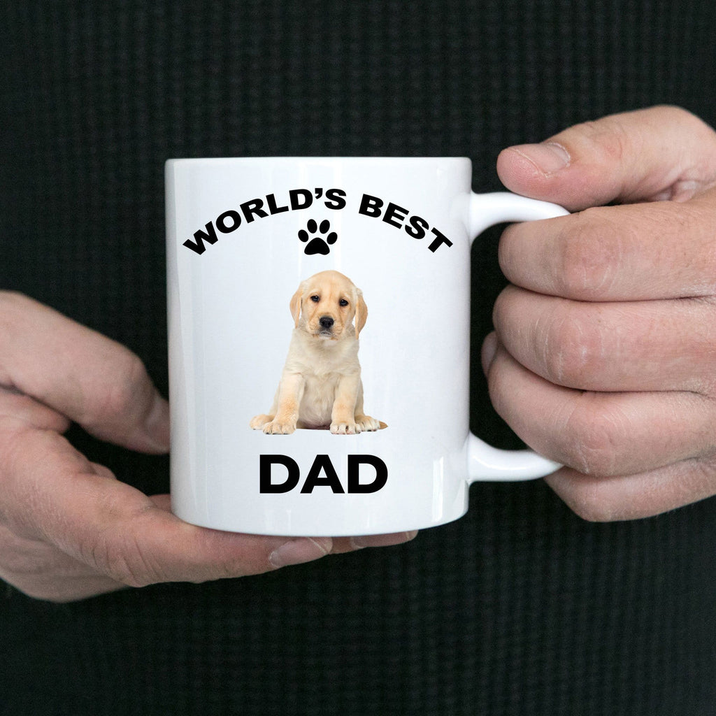 Yellow Labrador Retriever Best Dad Coffee Mug